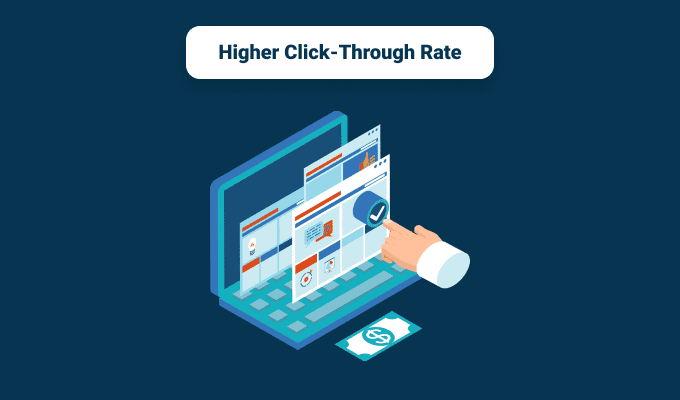 Higher Click-Through Rate